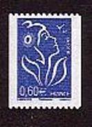 FRANCE / 2006 / Y&T N° 3973 ** : Lamouche Roulette 0.60 € Bleu (n° à Droite) - Gomme D´origine Intacte - Nuevos