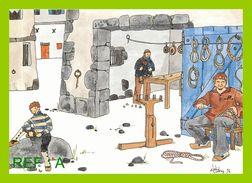 Dessin Elodie Coudray Bretagne L'atelier Du Cordier Et Du Poulier - Paintings