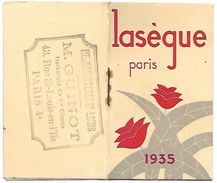 CALENDRIER 1935 - Format 5 X 8.5 Cm Fermé - LASEGUE Paris - Calendars