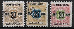 Danemark 1918 N° 92/94 Oblitérés Surchargés - 1913-47 (Christian X)