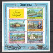 Antigua 1975,5V In Block,Nelson's Dockyard,ships,schepen,schiffe,navires,naves,boot,boat,bateau,barco,barca(L3150) - Boten