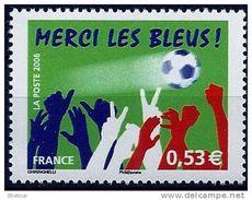 """Timbre France YT 3936 """" Football : Merci Les Bleus """" 2006 Neuf - France"""