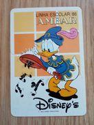 Calendrier De Poche Disney 1986 - Calendriers