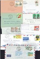 Lot De 9 Lettres 1962-2012 Origines Et Destinations Diverses - Afgestempeld