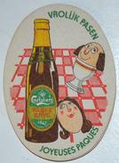 Sous-bock CARLSBERG Paske Bryg Vrolijk Pasen Joyeuses Pâques (coquetier Oeuf à La Coque) Bierviltje Coaster (CX) - Sous-bocks