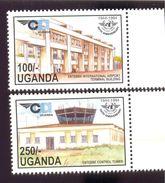 UGANDA SCOTT MINT N H # 1274-5  STAMPS  ( ENTEBBE INT. AEROPORT - Uganda (1962-...)
