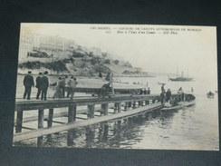 MONACO  1910  /  SPORT / COURSE DE CANOT  AUTOMOBILE /  MISE A L EAU D UN CANOT  / CIRC OUI  EDIT - Port