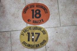 Deux Plaque En Bois Peint De Rallye Groupe Josi (3è Et 4è) - Habillement, Souvenirs & Autres