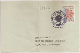Angola Cover Circulated Benguela To Luanda - 1972 - Stamp Church And Map Of Angola - Cancel Luanda And Jamboree Benguela - Angola