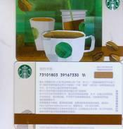Starbucks China 2017 Green Coffee Theme Gift Card RMB100 - Cina