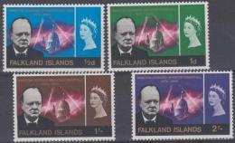 FALKLAND ISLANDS - 1966 Winston Churchill. Scott 158-161. MVLH - Falklandeilanden