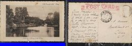 S.Africa, PPC  SPa Gardens, Ripon (UK) Used 1912 > CERES,mutilated, Stamp Removed - South Africa (...-1961)