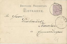 STEMPEL: Auggen. - Stamped Stationery 1879 - Germany