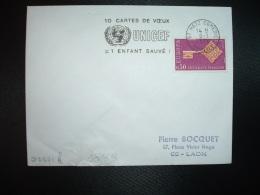 L. TP EUROPA 0,30 OBL.MEC.8-1-1970 METZ COMEDIE (57 MOSELLE) 10 CARTES DE VOEUX UNICEF = 1 ENFANT SAUVE! - Marcophilie (Lettres)