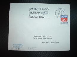 L. TP BLASON PARIS 0,30 OBL.MEC.26-5-1966 METZ GARE (57 MOSELLE) EMPRUNT 5.75% PTT SOUSCRIVEZ - Marcophilie (Lettres)