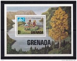 Grenada  (Sc # 651), MNH, (Souvenir Sheet Of 1), 14th Boy Scout World Jamboree   (1975) - Grenada (1974-...)