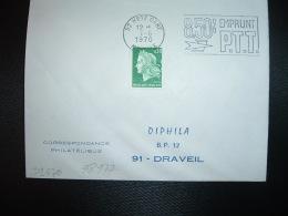L. TP M. DE CHEFFER 0,30 ROULETTE OBL.MEC.1-6-1970 METZ GARE (57 MOSELLE) 8,50% EMPRUNT PTT - Marcophilie (Lettres)