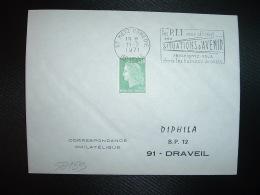 L. TP M. DE CHEFFER 0,30 OBL.MEC.11-2-1971 METZ COMEDIE (57 MOSELLE) Les PTT Vous Offrent... DES SITUATIONS D'AVENIR - Marcophilie (Lettres)