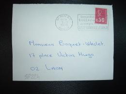 L. TP M. DE BEQUET 0,50 OBL.MEC.3-7-1972 METZ RP (57 MOSELLE) Demandez à Votre...BUREAU DE POSTE Un Compte Local - Marcophilie (Lettres)