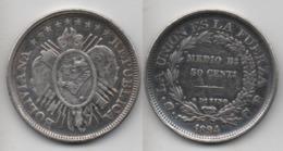 + BOLIVIE + 50 CENTAVOS 1894  + - Bolivie