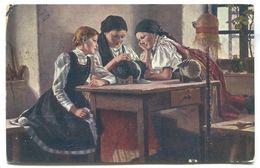SPILLAR Painter -  FOLK COSTUME, ETHNO, GIRLS, 1915. - Europa