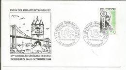 OBLITERATION ASSEMBLEE GENERALE DE L'UFAC BORDEAUX 1986 - Commemorative Postmarks