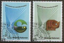 UNO WIEN 1982 Mi-Nr. 27/28 O Used Aus Abo - Centre International De Vienne