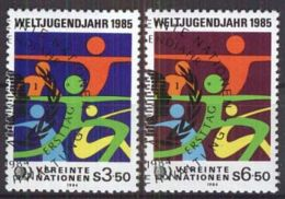 UNO WIEN 1984 MI-NR. 45/46 O Used Aus Abo - Centre International De Vienne