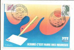 OBLITERATION L'AUVERGNE ET LE CODE POSTAL 1984 - Commemorative Postmarks