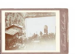 Photo Orig. Ensevelissement De Victimes De L'avalanche à L'Eglise De Grengiols 1904 Ditsr. De Rarogne - Luoghi