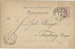 STEMPEL: Aachen And Freiburg I Baden. - Stamped Stationery 1880 - Deutschland