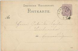 STEMPEL: Kandern. - Stamped Stationery 1883 - Germany