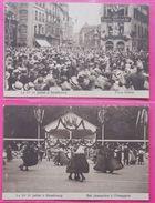 67 Strasbourg 2 Cpa Le 1er 14 Juillet Pigalle American BarPlace Kleber Et Bal éditeur Monogramme Lettres Gothiques - Strasbourg