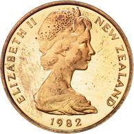 Nouvelle-Zélande, Elizabeth II, 2 Cents, 1982, PROOF, SUP, Bronze, KM:32.1 - Nouvelle-Zélande