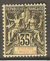 SAINT PIERRE ET MIQUELON   -    1900 .  Y&T N° 76 *  . - St.Pierre & Miquelon