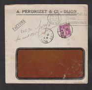 """FRANCE / 1932 / Y&T N° 281 : Paix 40c - Sur Pli Du 13/07/1935 (Flamme DIJON """"Chèques Postaux... Demandez Un Compte ...) - Marcophilie (Lettres)"""