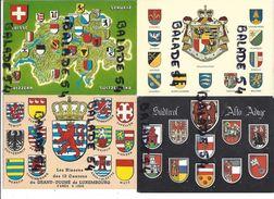 Lot De 7 CPM - Représentant Des BLASONS (de Villes, Cantons, Collèges, Différents Pays) - Cartes Postales