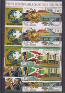 Burundi - COB 644 / 51 + PA 346 / 53 ** - MNH - En Paire - U P U - Avions -trains -voitures -motos -facteur -valeur 39 & - 1970-79: Neufs