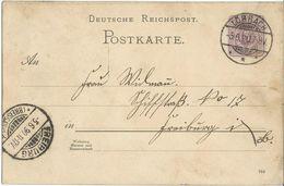 STEMPEL: Lorrach And ( Friburg Im Brisgau ). - Stamped Stationery 1890 - Deutschland