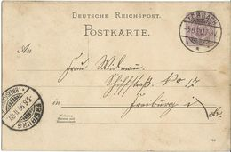 STEMPEL: Lorrach And ( Friburg Im Brisgau ). - Stamped Stationery 1890 - Entiers Postaux