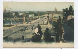 CPA: 75 - PARIS - VUE PANORAMIQUE DU PONT ALEXANDRE III VERS LES INVALIDES - Arrondissement: 07