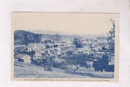 CPA DPT 42 ST JEAN SOLEYMIEUX, VUE PARTIELLE SUR LES ECOLES ET QUARTIER CENTRAL - Saint Jean Soleymieux