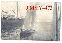 CPA - Voilier Dans L' Avant Port Bien Animé En 1914 - SAINT NAZAIRE 44 Loire Inf. - Hélio Dugas Et Cie - Recto-Verso - Saint Nazaire