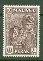 Malaya - Perak: 1957/61   Sultan Yussuf 'Izzuddin Shah - Pictorial   SG156    10c   Deep Maroon   MH - Perak