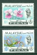 Malaya - Perak: 1970   Flowers   SG170-171   1c And 10c  [Wmk Sideways]    MNH - Perak