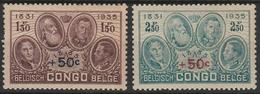Belgisch Congo 192/193  Pour Monument Du Roi Albert ** - Congo - Brazzaville
