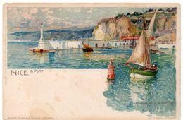 Illustrateur Manuel WIELANDT -  NICE Le Port ( Alpes Maritimes ) - Dos Simple - Wielandt, Manuel