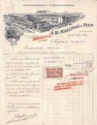 MAINE ET LOIRE - ANGERS - AUTOMOBILES , CARROSSERIE - J. B. MALINGE & FILS , J. H. MALINGE FILS SUCCESSEUR - 1918 - Cars