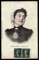 CPA ANCIENNE FRANCE- AMÉLIE-LES-BAINS (66)- CATALANE FRANCAISE EN TRES GROS PLAN- COSTUMES ET COIFFES LOCAUX - Frankreich
