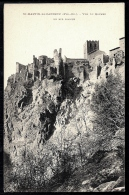 CPA ANCIENNE FRANCE- SAINT-MARTIN DE CANIGOU (66)- VUE DU ROCHER EN NID D'AIGLE- TRES GROS PLAN- REMPART- CLOCHER - Frankreich